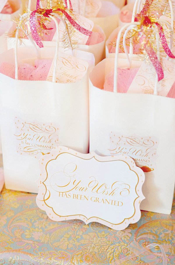 make a wish party favor bags