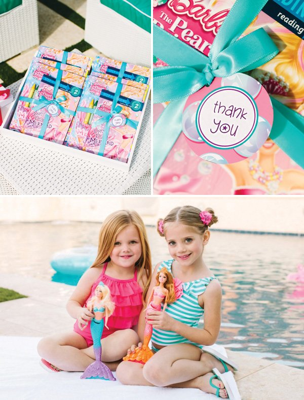 mermaid barbie party favors