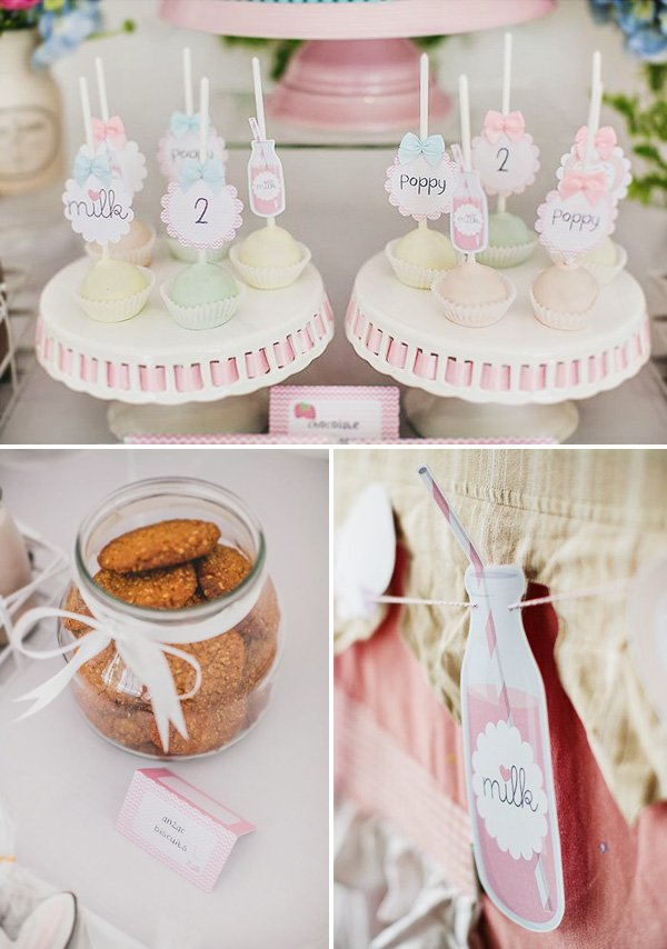 milk and cookies themed desserts