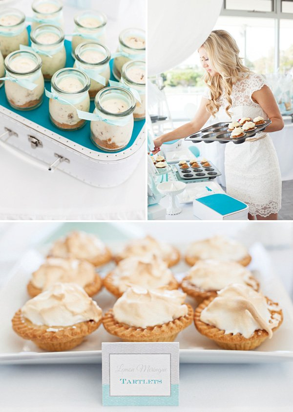mini pies and desserts for a party's desserts display