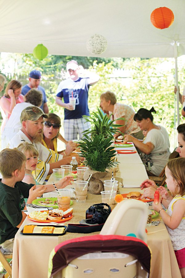 outdoor party's long table