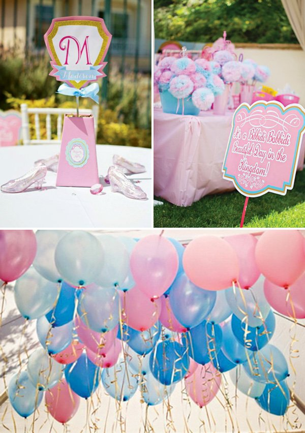 pink and blue girl's birthday party ideas
