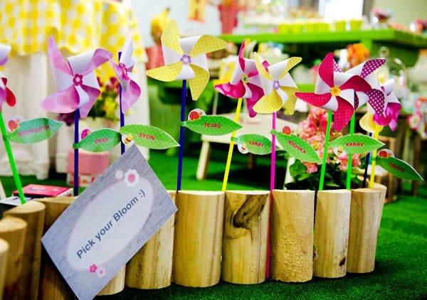 garden party pinwheel flowers