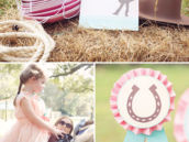 pony rides for a fancy farmgirl birthday party