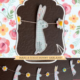 Free Easter Printables from HWTM - Shabby Chic Bunny Garland