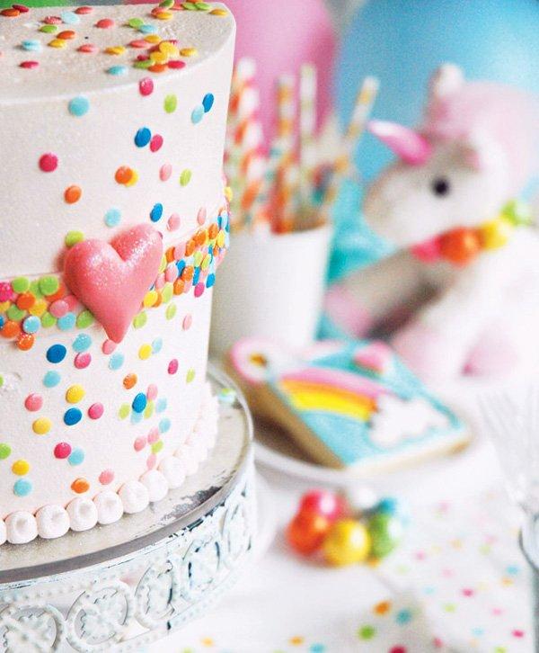 rainbow sprinkles confetti birthday cake