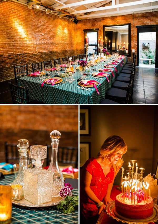 romantic and vibrant adult birthday party theme