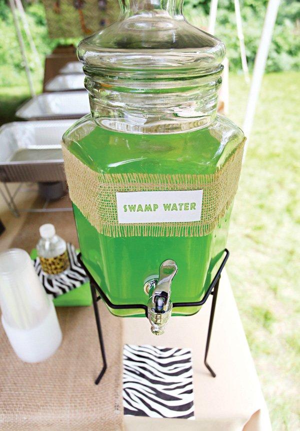 safari swamp water party drinks
