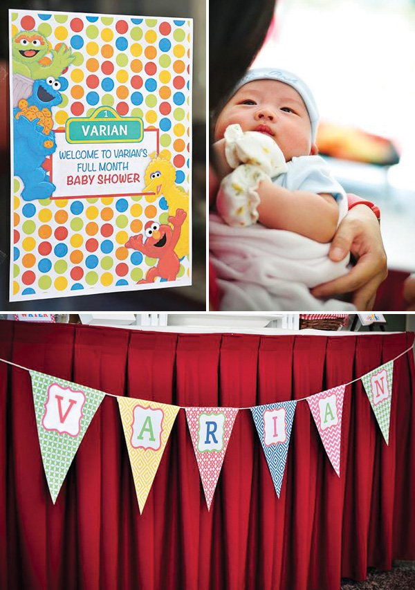 Chinese one month baby shower