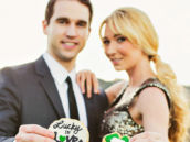 lucky in love and shamrock diamond ring cookies