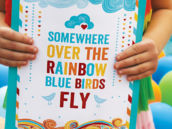 somewhere over the rainbow printable sign