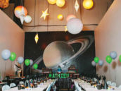 space themed birthday party venue