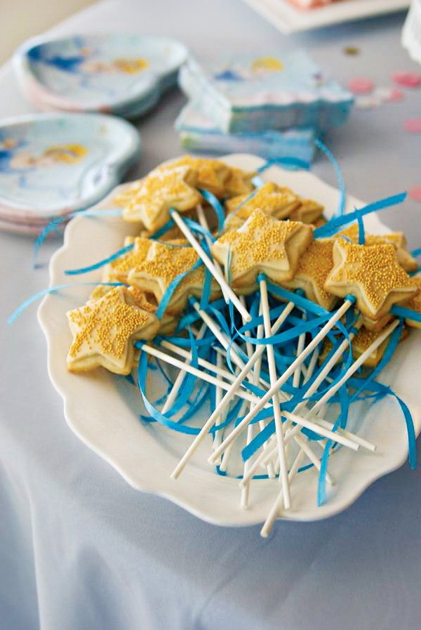 fairy star wand cookie pops