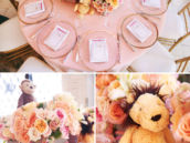 stuffed wild animal table centerpieces