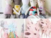 baby's stuffed bunny party decor