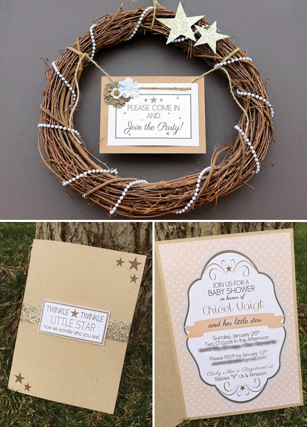 twinkle little star party invitation and welcome sign