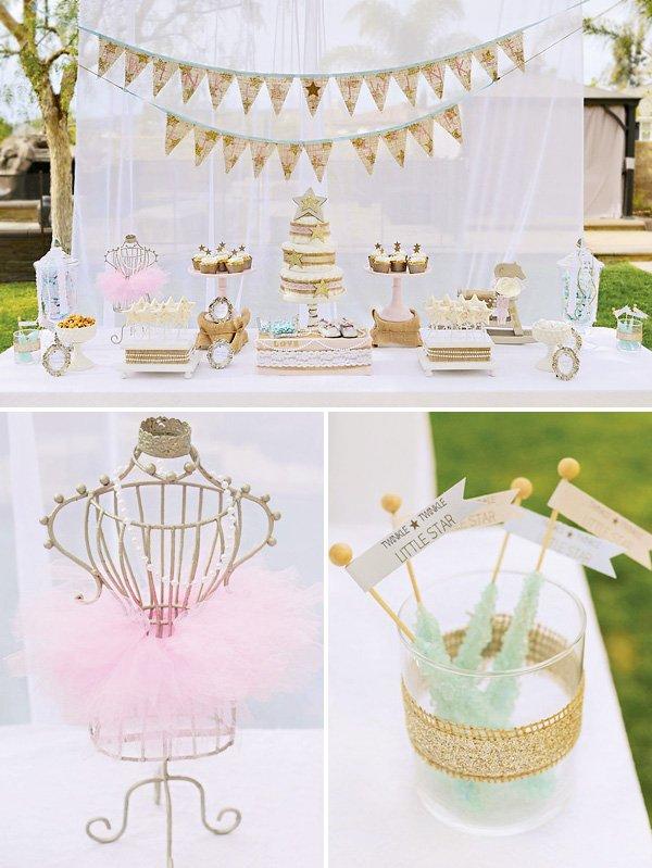 twinkle twinkle little star baby shower dessert table
