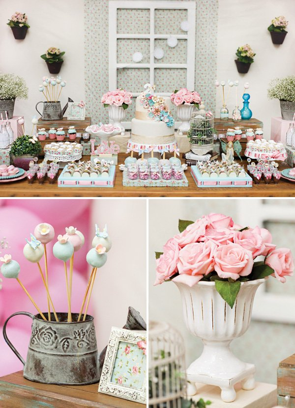 whimsical and girly garden birthday party ideas