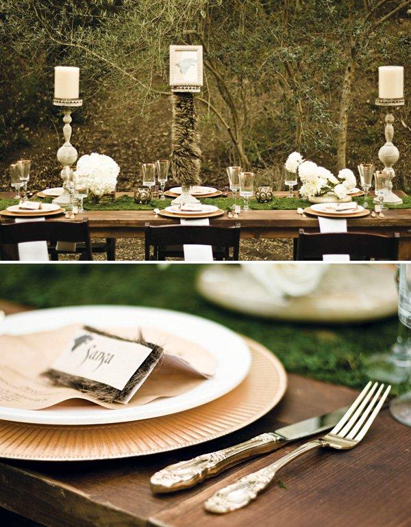 winter wedding tablescape decor