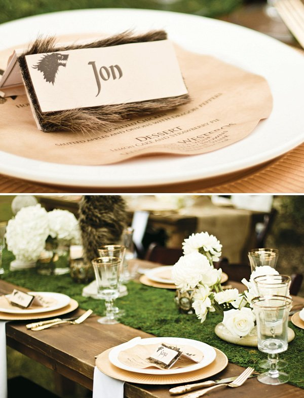 wolf hair decorated place card