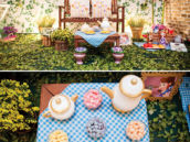 woodsy picnic tea party