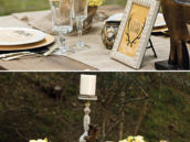 woodsy winter wedding tablescape