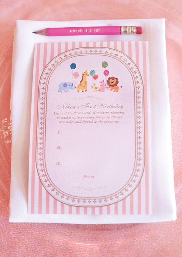 words of wisdom first birthday party activity