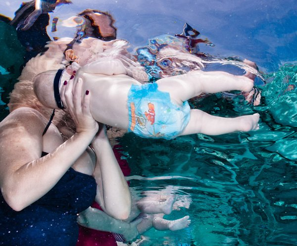 underwater shot of Huggies Little Swimmers