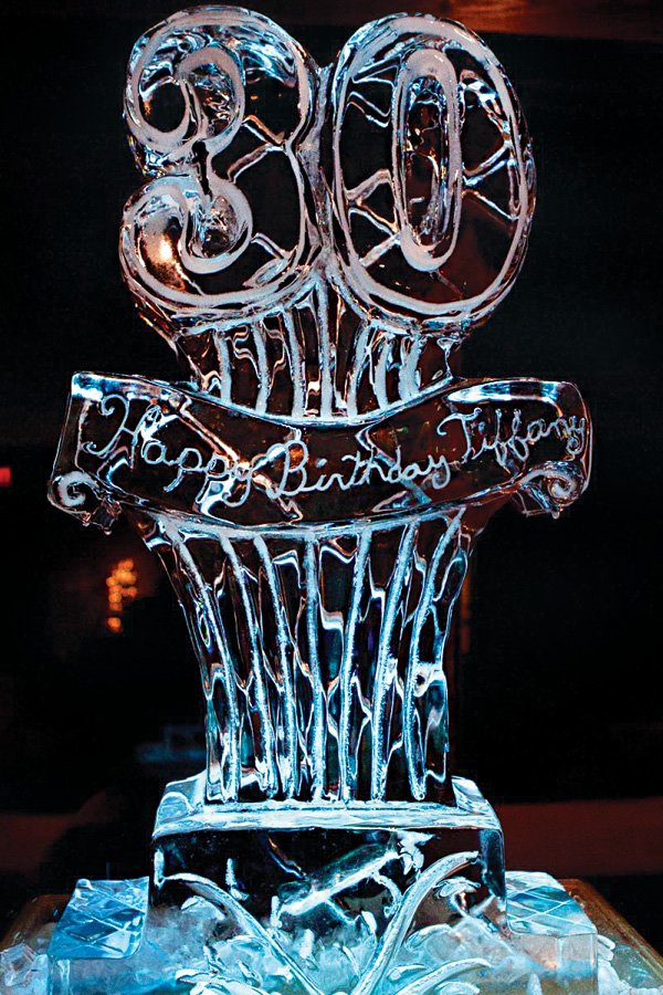 30th birthday ice sculpture
