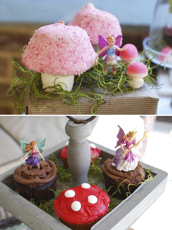 woodland fairy desserts