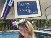 woodland fairy party painting activity
