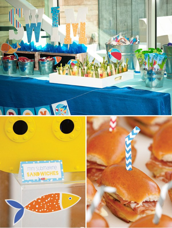 swim party food - submarine sandwiches