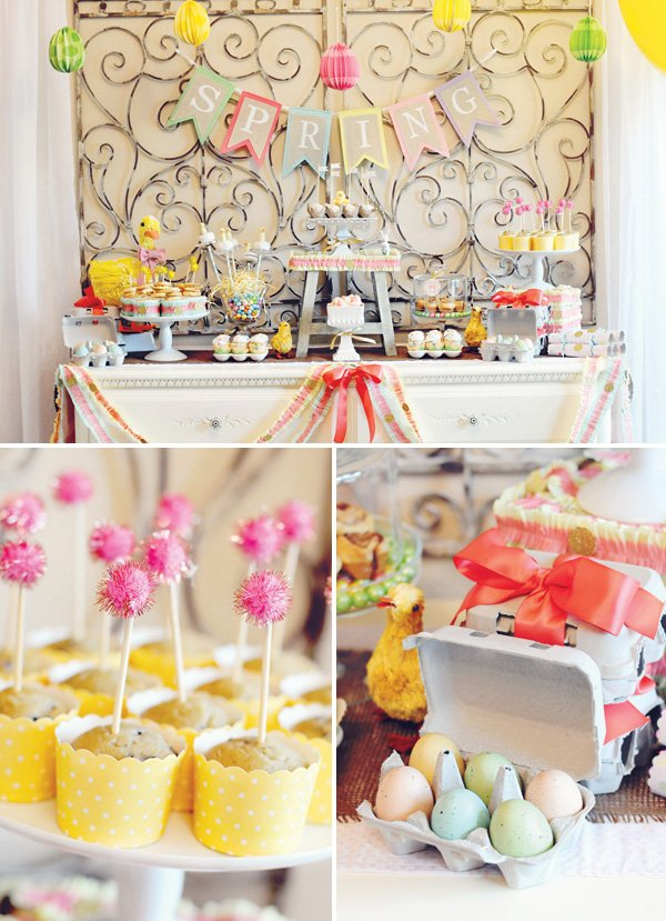 Easter brunch food table