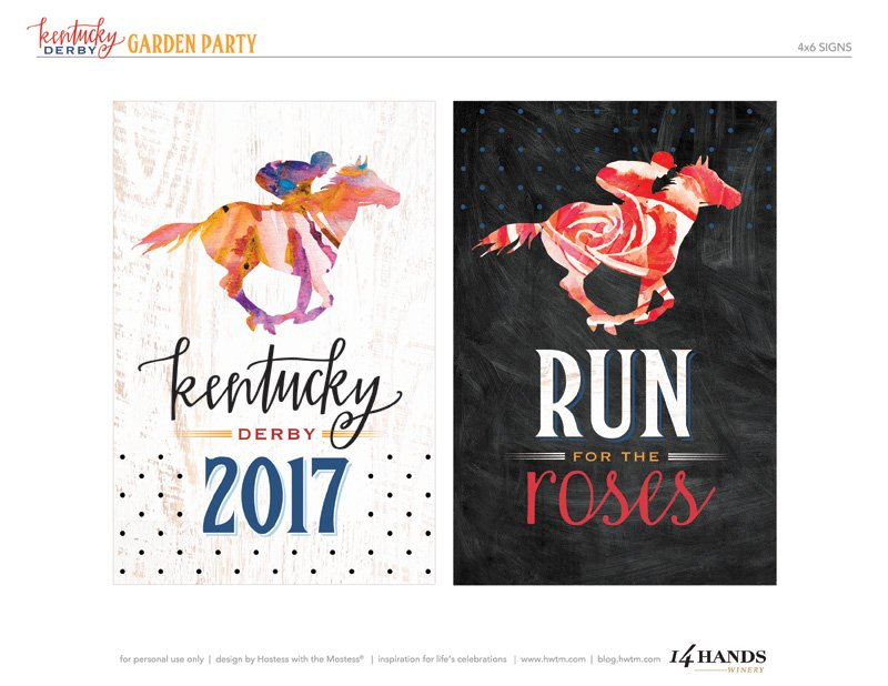 Kentucky Derby Free Printables
