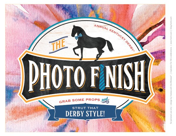 Free Printable Kentucky Derby Photo Booth Sign