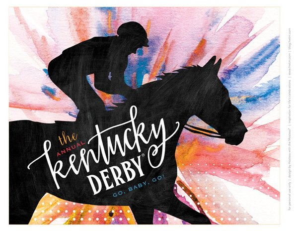 It's just an image of Irresistible Kentucky Derby Printables