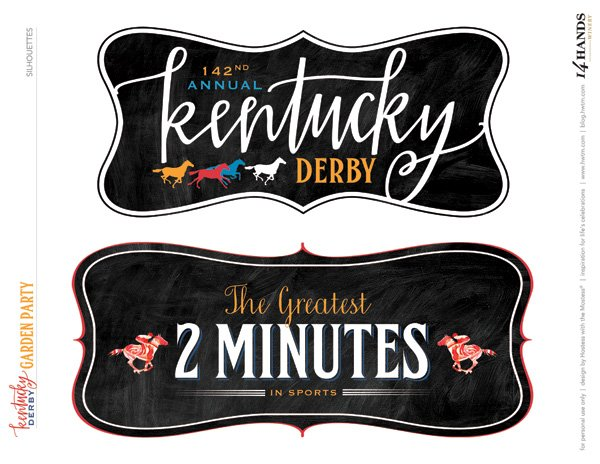 Kentucky Derby Party Printables - Labels