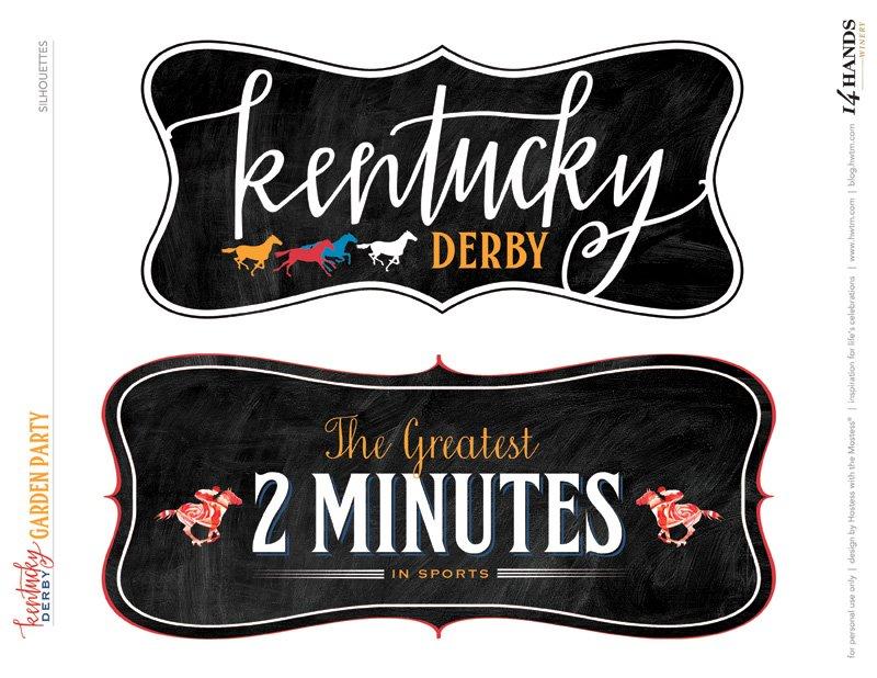 Kentucky Derby Free Printables