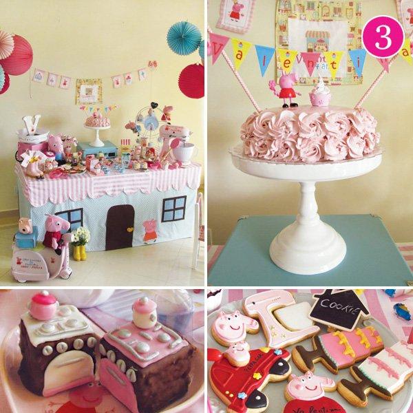 peppa pig patisserie birthday party desserts
