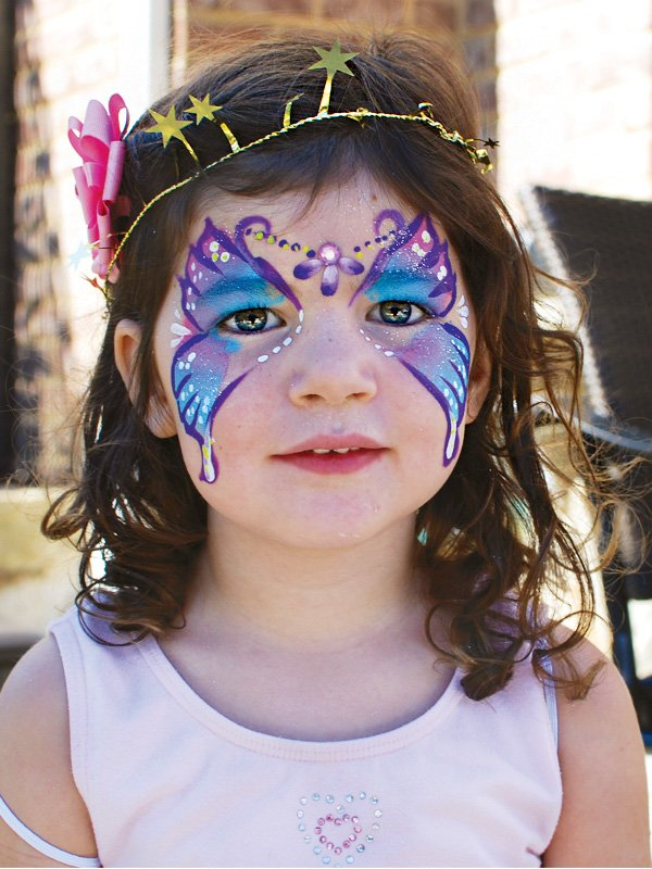 woodland fairy party face painting