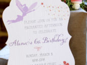 woodland fairy party invitation