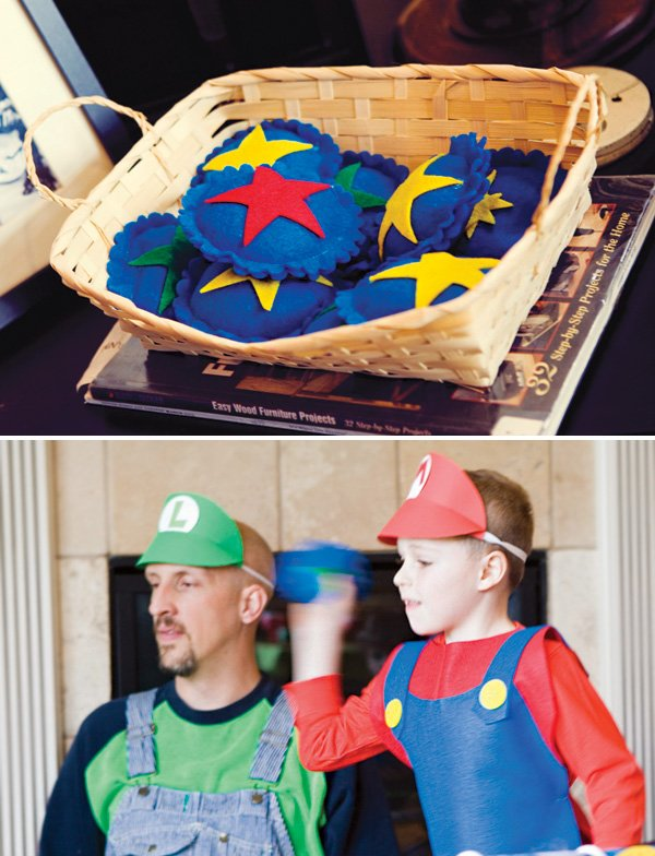 Mario Brothers bag tossing game