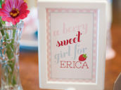berry sweet baby shower sign