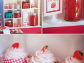 berry sweet strawberry dessert display