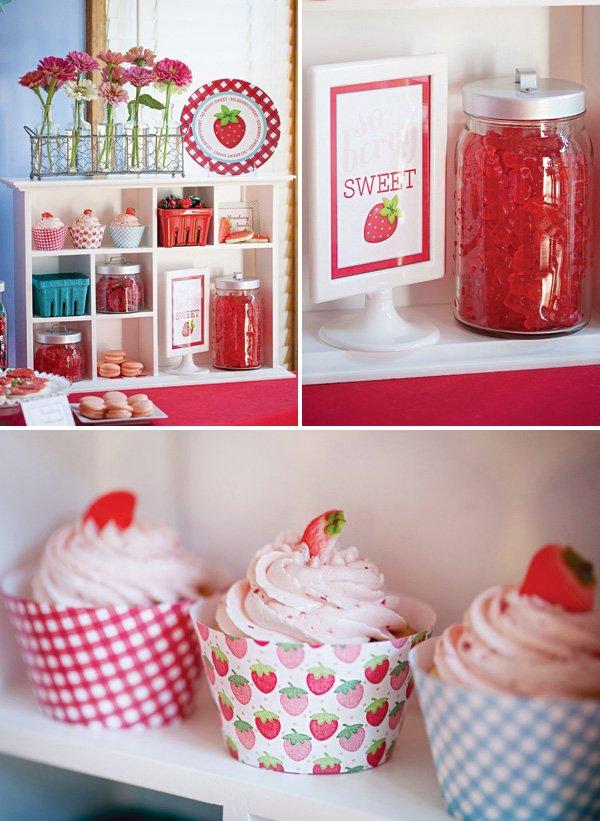 berry sweet strawberry dessert display