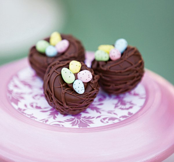 chocolate birds nest truffles