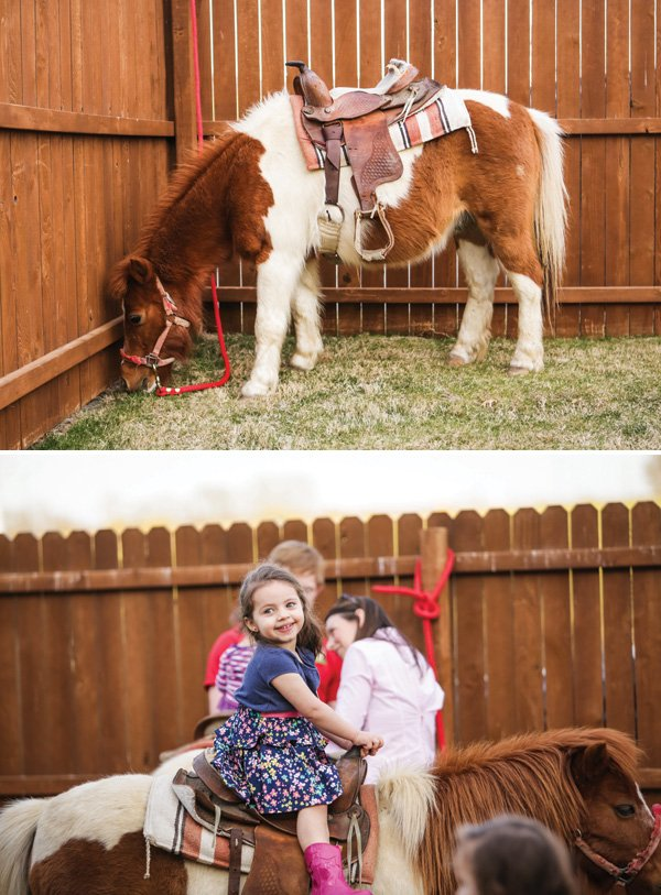 cowgirl birthday party pony rides
