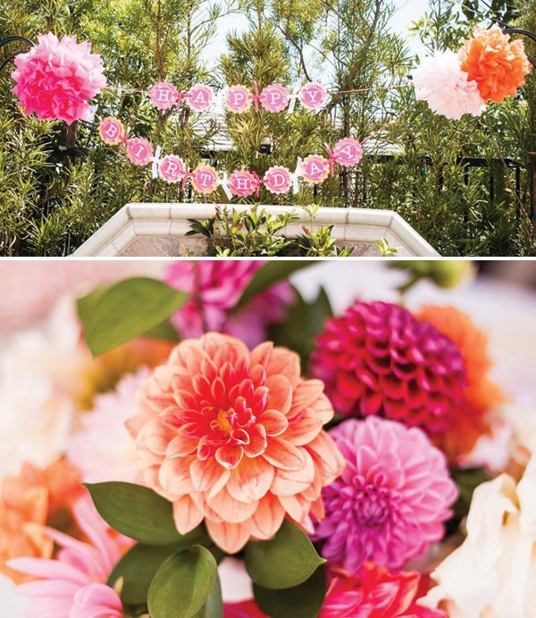 bright and colorful girly first birthday party