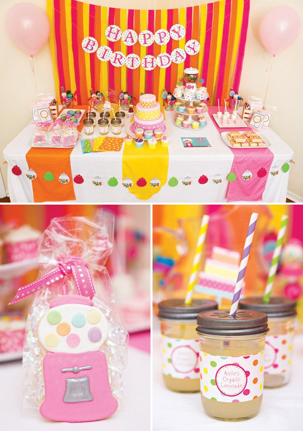 candy and sweets birthday party dessert table