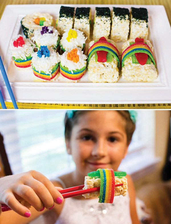 candy sushi party